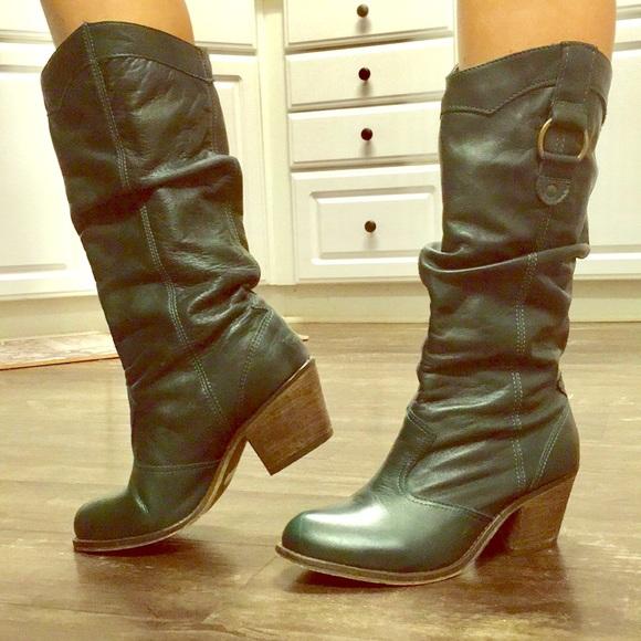 80796e750a4 Steve Madden green slouch cowboy boots size 7. M 5b850001cdc7f79a7648a777